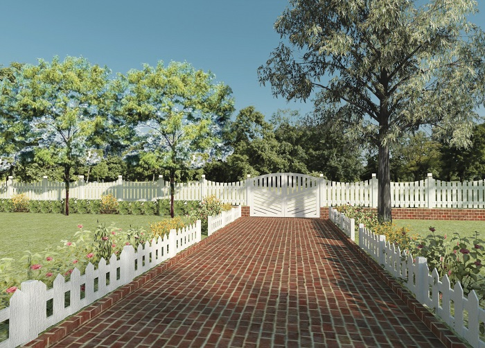Hàng rào giả gỗ nét đẹp cổ điển giữa thế kỉ 21