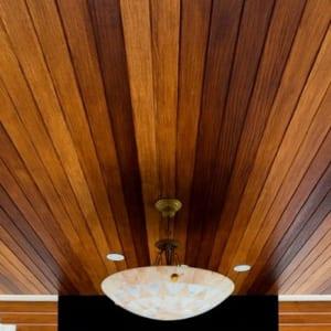 Tấm xi măng giả gỗ Uco Deco Wood ứng dụng làm trần