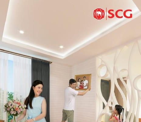 Làm trần với tấm SCG Smart mang lại không gian tươi mát và sang trọng