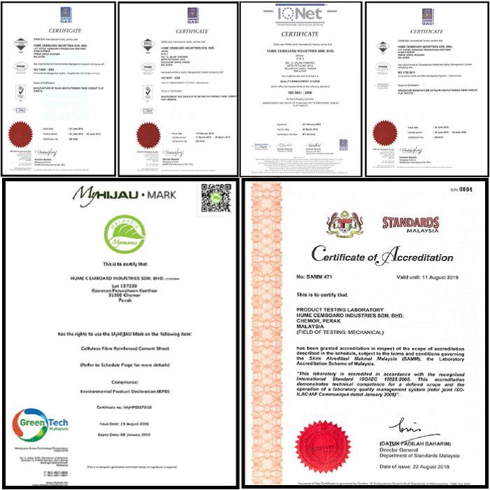 Tấm Cemboard sợi Xenlulo PRIMA BOARD – Hume (Malaysia)