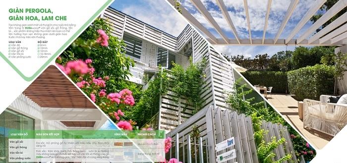 Lam che nắng Vân gỗ giải pháp cho mọi công trình
