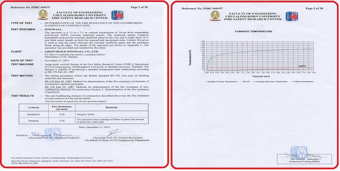 Tấm bê tông EPS Thái Lan INNOWALL (2 mặt tấm Cemboard)