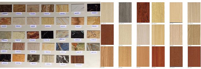 Tấm PVC Vân đá, Vân gỗ