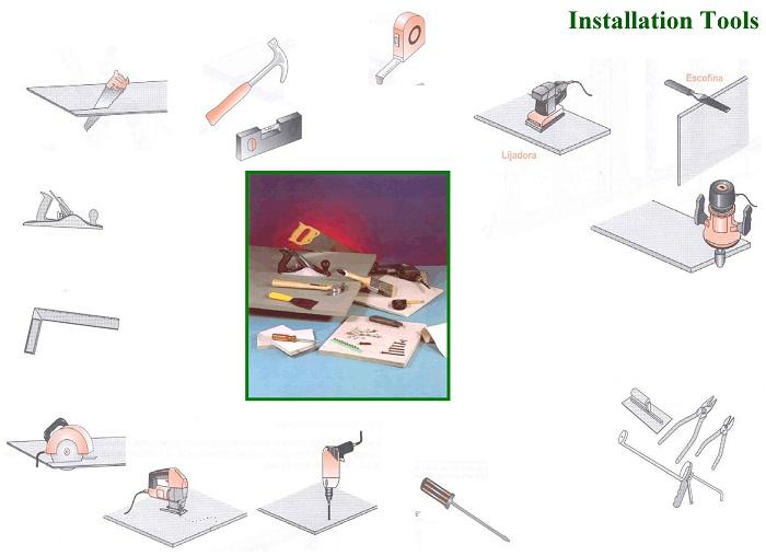 Các thiết bị cần thiết khi thi công và các bước lắp đặt.