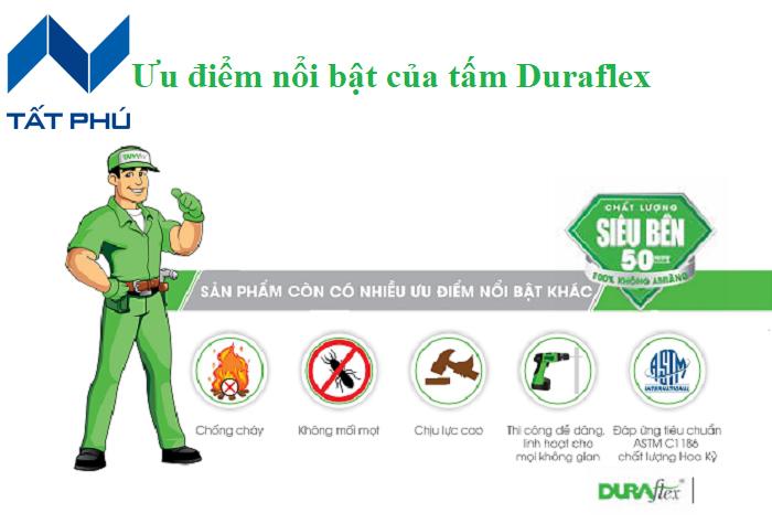 Đặc điểm nổi bật của tấm xi măng lót Duraflex.