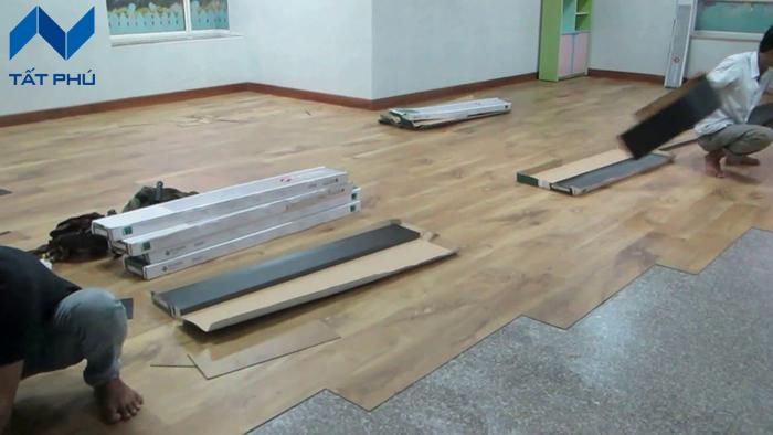 Những ứng dụng của sàn nhựa gỗ.