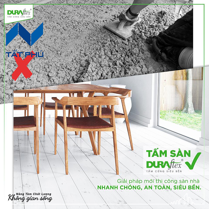 Vén màn bí mật về kĩ thuật thi công sàn cemboard thương hiệu Duraflex