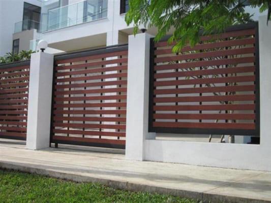 Khi bạn dùng gỗ nhân tạo conwood, để làm tường rào cổng ngõ trước hết là đảm bảo tính thẩm mĩ cao.