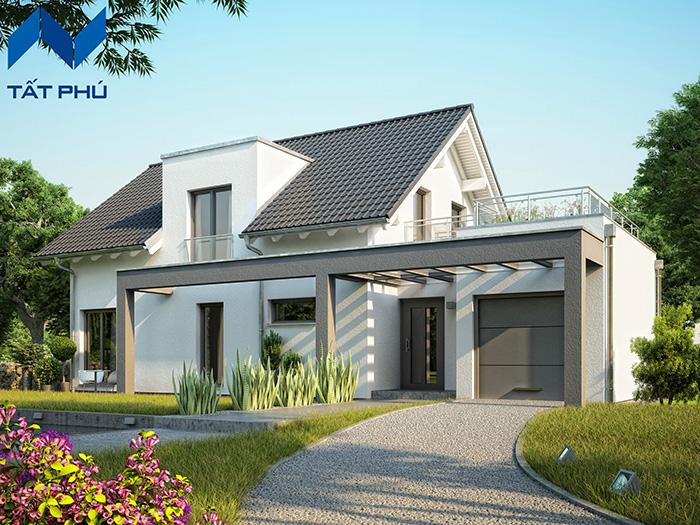 Lựa chọn những mẫu nhà cho lối thiết kế đơn giản.