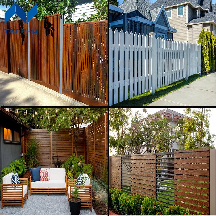Gợi ý phương pháp thi công hàng rào giả gỗ.