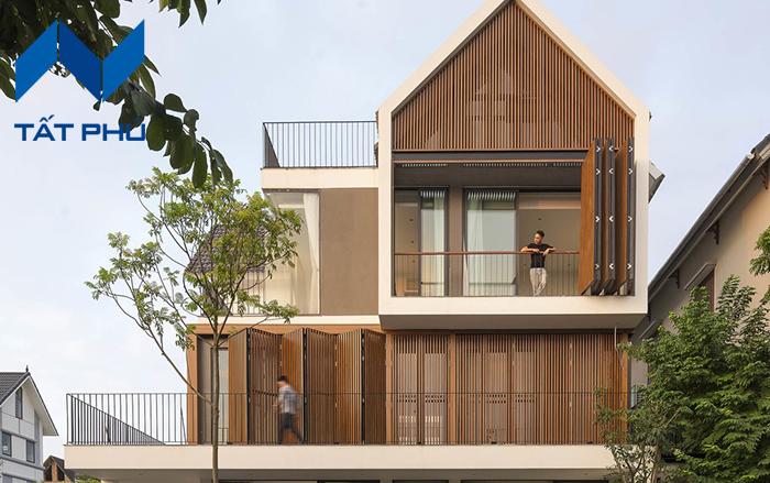 Lam che nắng giả gỗ cho ngôi nhà thêm xinh