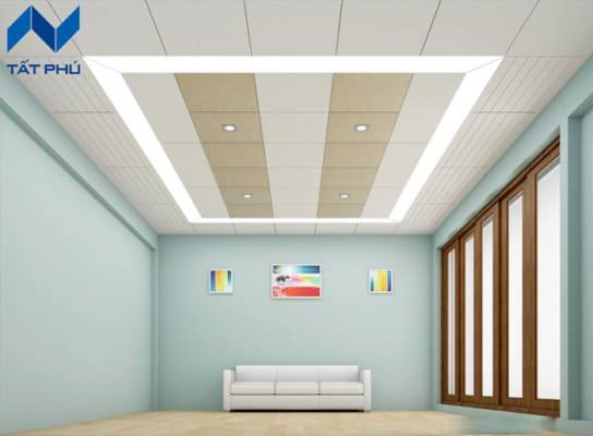 Tấm Cemborad được sử dụng để làm trần có độ dày thích hợp từ 3.5mm – 6mm.