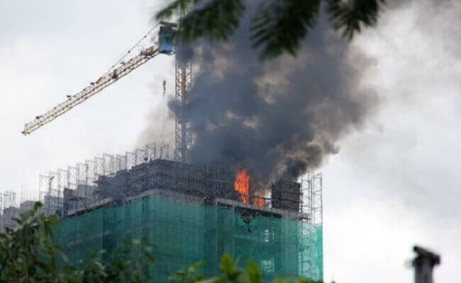 Hàng năm có rất nhiều đám cháy trên các công trường xây dựng và trong các tòa nhà đang được tân trang