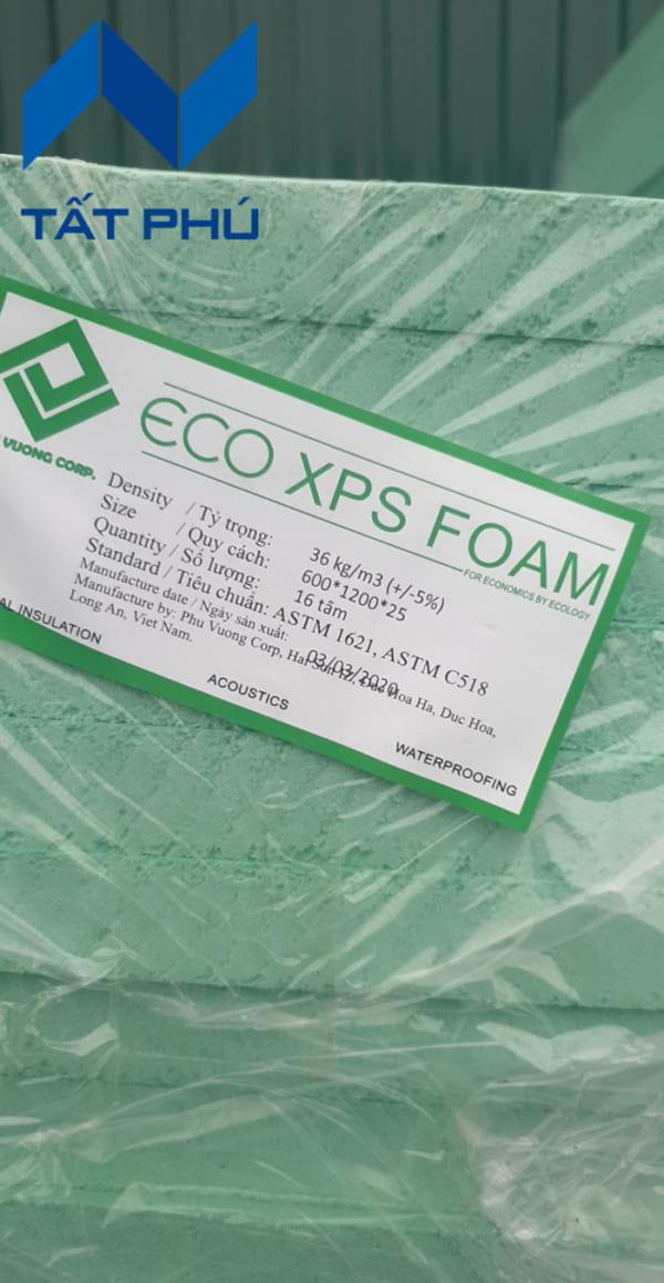 Tấm xốp Eco XPS Foam chính hãng tem, có đóng dấu