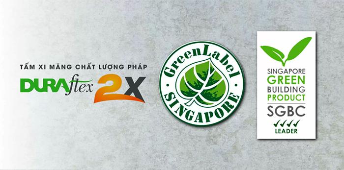 Tấm Cemboard Duraflex là sản phẩm số 1 Việt Nam nhận 2 chứng nhận xanh
