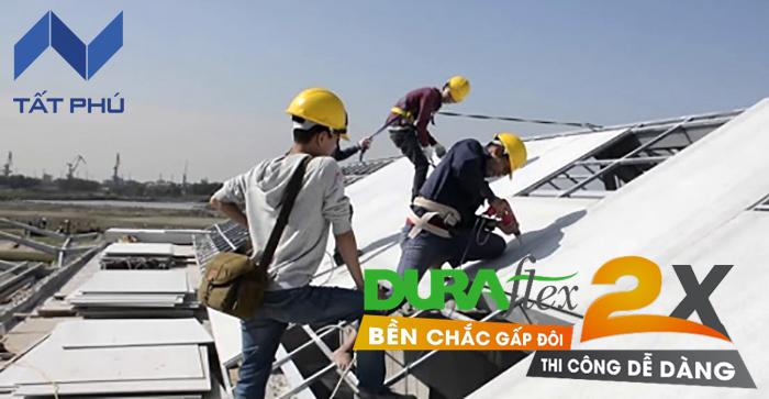 Tấm Duraflex 2X lót mái chống nóng – Giải pháp bền vững và hiện đại