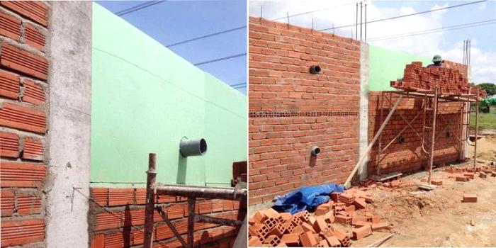 Chống nóng tường hướng tây bằng tấm Eco XPS Foam