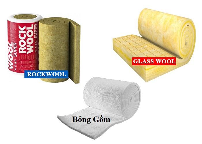 So sánh chi tiết các loại bông cách nhiệt bảo ôn chống cháy.