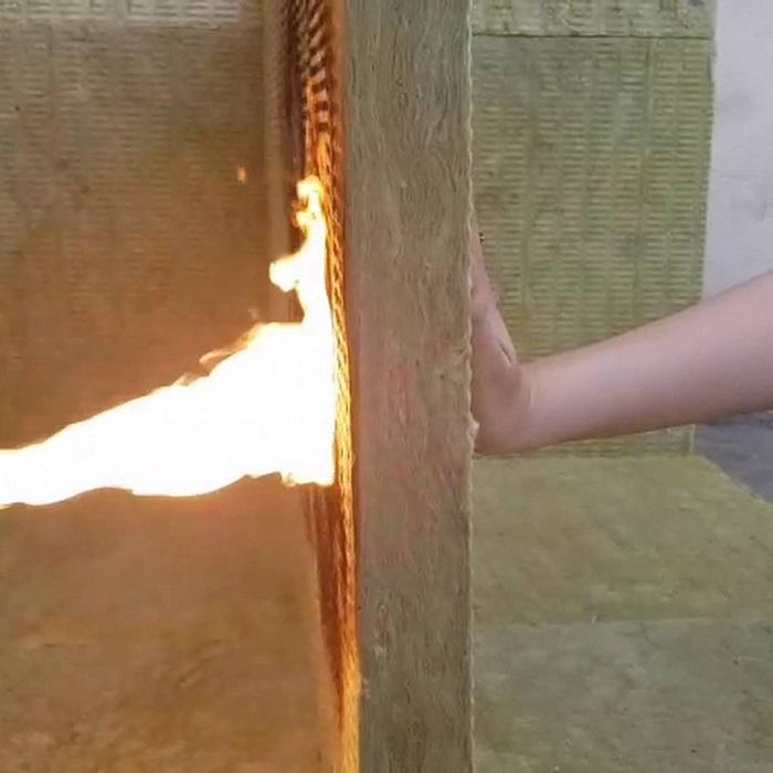 Tại sao bông sợi khoáng Dragon Rockwool lại có thể chống cháy.