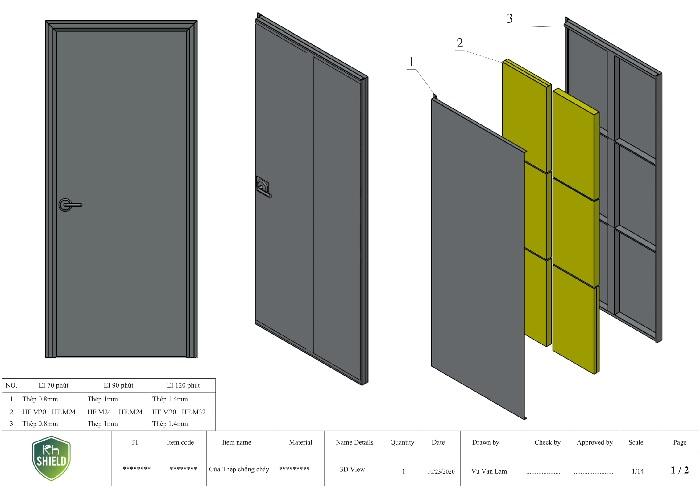 Vì sao tấm KH. Shield được ứng dụng làm cửa thép chống cháy.