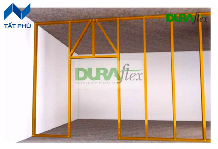 Đặc tính của tấm xi măng Duraflex 2X khi được ứng dụng làm vách ngăn cháy.