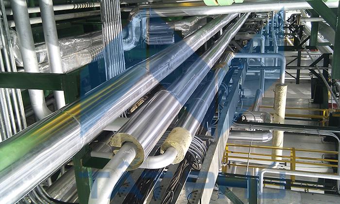 * Đường ốngdầu dùng cho lò dầu tải nhiệt từ280 độ C trở lên: thường sử dụngđộ dày cách nhiệtnhư sau: