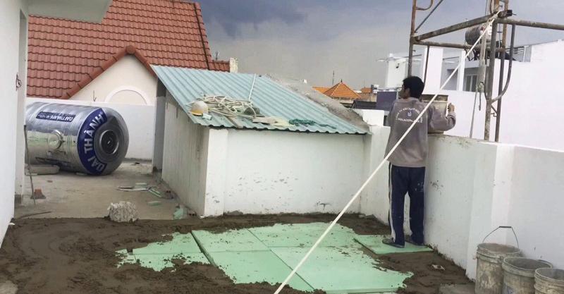 Cách nhiệt chống nóng cho sàn bê tông sân thượng nhờ xốp XPS Foam