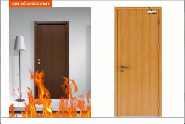 Cửa gỗ chống cháy giúp bảo đảm an toàn về tính mạng con người và tài sản