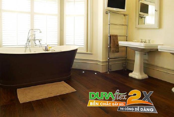 Lót sàn nhà tắm nhờ tấm Duraflex 2X hiệu quả bất ngờ