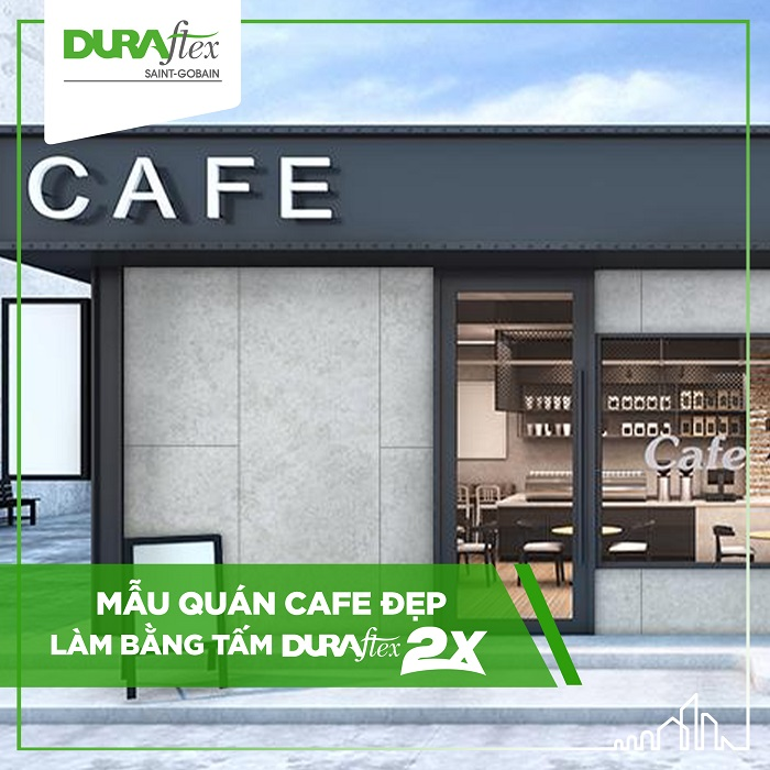 Mãn nhãn với những mẫu quán café làm bằng tấm Duraflex siêu đẹp mắt