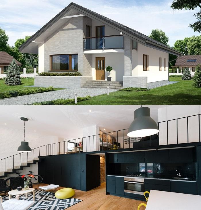 Tại sao thiết kế nhà có gác lửng lại trở thành xu hướng trong kiến trúc hiên đại.