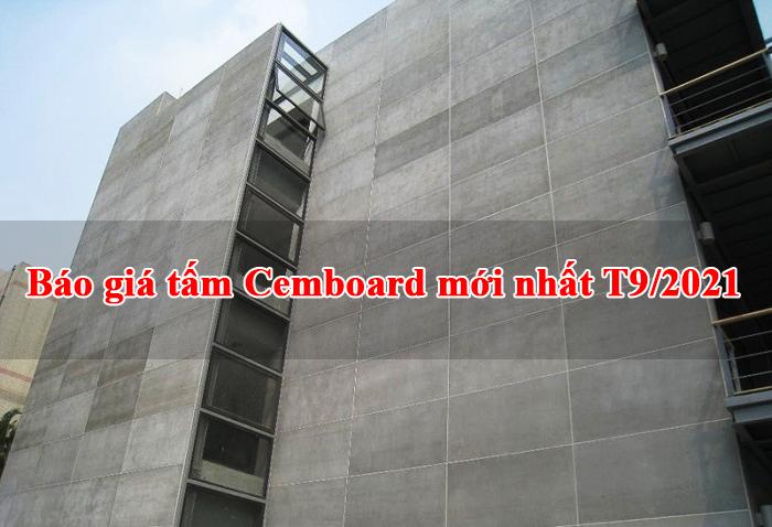 Báo giá tấm Cemboard T9/2021 chính hãng mới nhất.